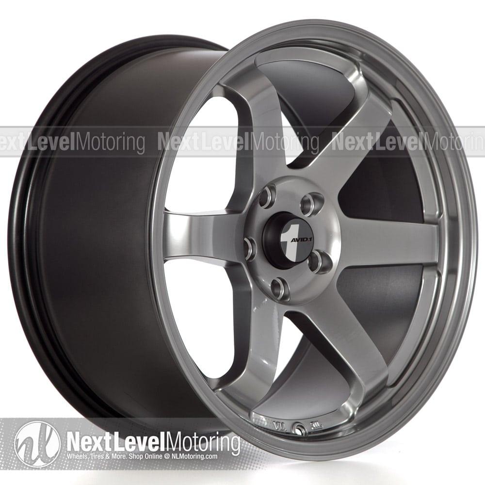 Avid 1 Wheels Av 06 18x9 5 5x114 3 Hyper Black Rims Et32